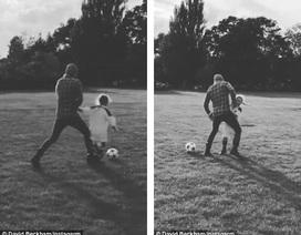 Thú vị khi xem David Beckham dạy con gái út đá bóng