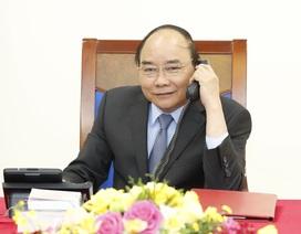 Thủ tướng điện đàm với quyền Tổng thống kiêm Thủ tướng Hàn Quốc