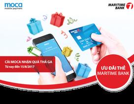Chủ thẻ Maritime Bank cài ứng dụng Moca để nhận quà thả ga