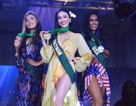 Hà Thu giành HCV phần thi trang phục biển tại Hoa hậu trái đất 2017