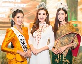 Hoa hậu Mỹ Linh đọ sắc cùng tân Hoa hậu Lào và Campuchia