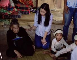 Hoa hậu Đỗ Mỹ Linh chia sẻ tình cảm tới gia đình có người thân bị lũ cuốn trôi