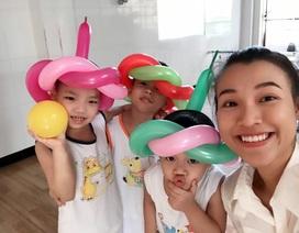Á hậu Hoàng Oanh đến Tây Ninh tặng quà trẻ em kém may mắn