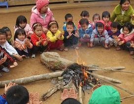 Lạnh 4 độ C, học sinh nhiều nơi phải nghỉ học