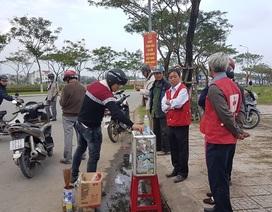 Bắt quả tang một phụ nữ mạo danh Hội Chữ thập đỏ quyên tiền sau tai nạn giao thông