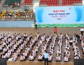 """Hà Tĩnh: 500 học sinh sôi nổi tranh tài Hội thi """"Rạng rỡ Thành Sen"""""""