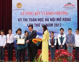 Thủ đô dẫn đầu kỳ thi Toán học Hà Nội mở rộng lần thứ 14