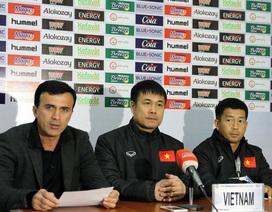 HLV Hữu Thắng hài lòng với 1 điểm trước Afghanistan