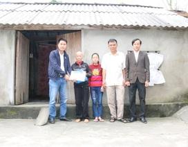 Trao hơn 135 triệu đồng tới gia đình chị Phan Thị Thủy