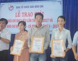 Phóng viên Dân trí đoạt giải Nhì giải Báo chí tỉnh Bạc Liêu năm 2017!