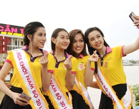 """Người đẹp Hoa khôi Nam Bộ chơi """"thả ga"""" trước giờ G"""