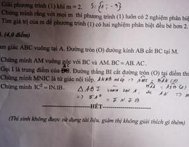Sở GD-ĐT Quảng Nam ra sai đề thi Toán lớp 9