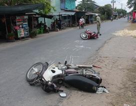 Hai xe máy chạy cùng chiều va quệt, 1 người tử vong
