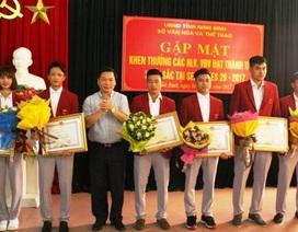 Ninh Bình khen thưởng vận động viên đạt thành tích cao tại SEA Games 29