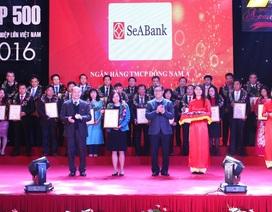 """SeABank được xếp hạng trong """"top 500 doanh nghiệp lớn Việt Nam - VNR500"""""""