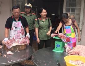 Công an Tây Ninh khuyến khích cán bộ sử dụng thịt heo hàng ngày