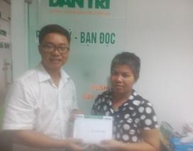 Trao hơn 74 triệu đồng đến chị Trịnh Thị Kim Hương