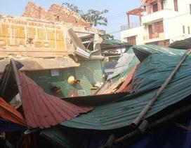 Vụ sập chợ ở Quảng Bình: Chưa giao mặt bằng đã tiến hành thi công