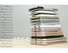 """Xem clip """"đọ"""" hiệu suất 15 đời iPhone"""