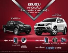 Isuzu khuyến mại cho khách mua mu-X và D-MAX trong tháng 5 và 6