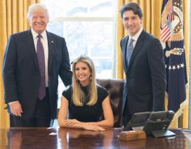 Con gái ông Trump bị chỉ trích vì ngồi trên ghế tổng thống