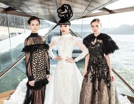 Siêu mẫu gốc Việt trình diễn trang phục lấy cảm hứng từ công nương Diana