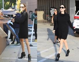Angelina Jolie lộ chân gầy guộc, Brad Pitt điển trai tại sự kiện