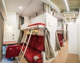 """Hết khách sạn con nhộng, Nhật Bản lại """"gây sốt"""" với khách sạn tàu hỏa"""