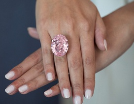 Vẻ đẹp viên kim cương hồng lớn nhất thế giới có giá 60 triệu USD