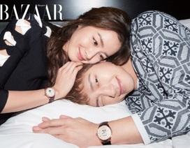 Khoảnh khắc ngọt ngào của vợ chồng Kim Tae Hee và Bi (Rain)