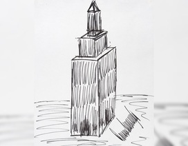 Tranh ký họa nhà chọc trời của Tổng thống Trump có giá 16.000 USD
