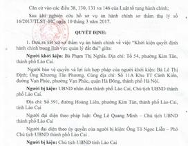 Bất ngờ hoãn xét xử vụ Chủ tịch tỉnh Lào Cai bị người dân kiện ra toà