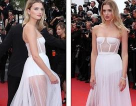 Siêu mẫu diện váy xuyên thấu tại Cannes