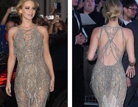 Jennifer Lawrence đẹp như mộng với váy xuyên thấu