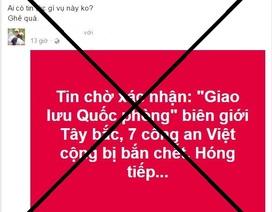 Lai Châu bác bỏ thông tin 7 công an bị bắn chết