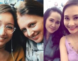 """""""Mẹ chồng nàng dâu"""" Lan Hương - Bảo Thanh cùng... tự sướng, Anna Trương khoe ảnh mẹ ruột"""