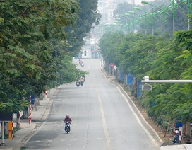 Đường phố Hà Nội thênh thang ngày mùng 1 Tết