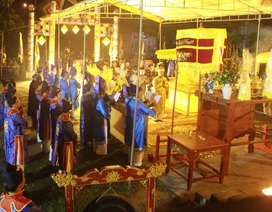 Lễ tế đàn Xã Tắc vào rạng sáng cầu mùa màng bội thu trong năm mới
