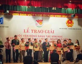 43 tác phẩm được trao giải sáng tác văn học về đề tài thương binh liệt sĩ