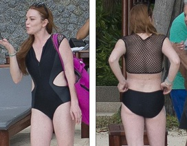 Lindsay Lohan khoe dáng, tắm biển tại Thái Lan