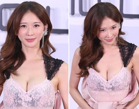 43 tuổi, siêu mẫu Lâm Chí Linh diện váy gợi cảm khoe vòng một trễ nải