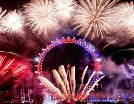 Mãn nhãn màn trình diễn pháo hoa mừng năm mới ở Anh
