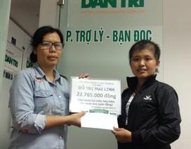 Hơn 22 triệu đồng đến với bé Mai Linh