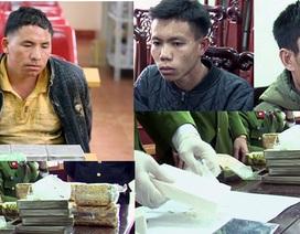 Bắt giữ 3 đối tượng thu giữ 15 bánh heroin và 9kg ma túy đá