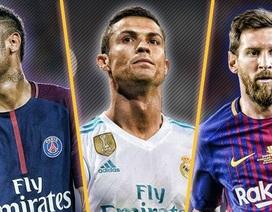 Rút gọn 3 cầu thủ xuất sắc nhất thế giới: Neymar đấu Messi, Ronaldo