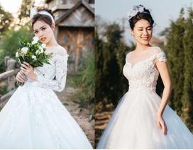 Hoa khôi Xây dựng quyến rũ khó cưỡng trong trang phục áo cưới
