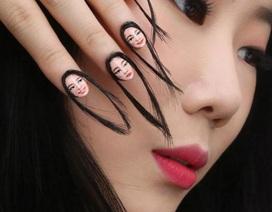 """Mẫu sơn móng tay """"dị""""dành cho người nghiện selfie"""