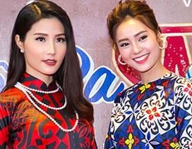 """Dàn người đẹp xúng xính với áo dài họa tiết kiểu """"Cô Ba Sài Gòn"""""""