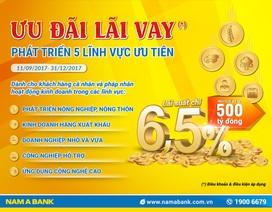 Nam A Bank ưu đãi lãi vay phát triển 5 lĩnh vực ưu tiên