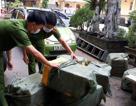 Bắt xe ô tô trở hơn 3 tạ nầm lợn nhập lậu từ Trung Quốc